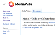 Proposed mediawiki logo (gradient solid, capitalised) new vector.png