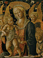 Pseudo-pier francesco fiorentino, madonna col bambino, san giovannino e due angeli, 1460-1480 circa, uffizi 02.jpg