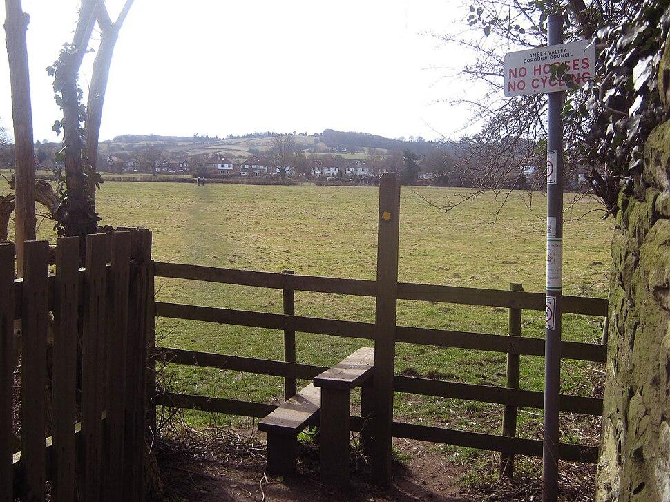 Public Footpath looking towards Derby Road, Duffield, Derbyshire (4538041050)