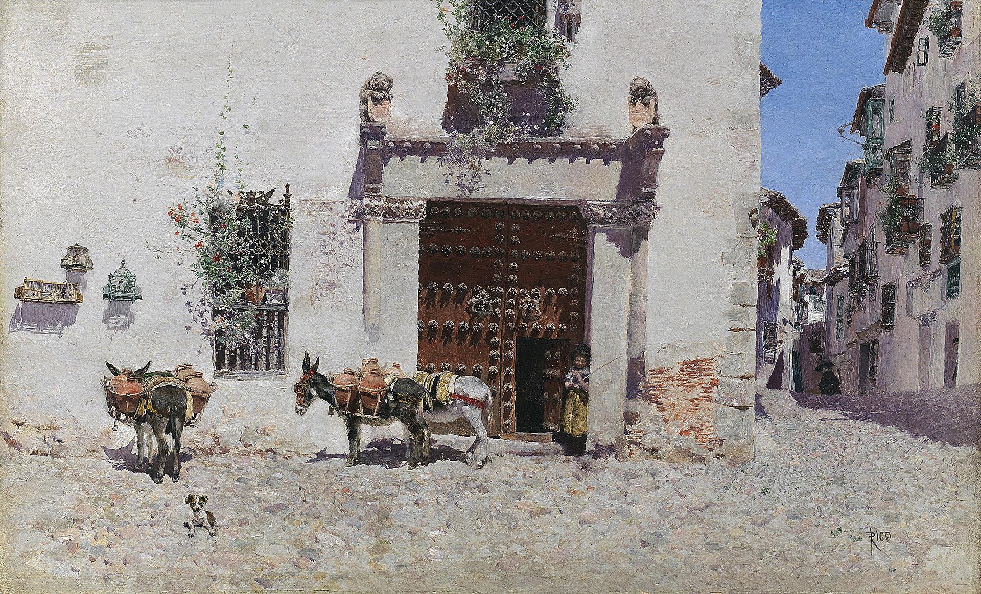 Puerta de una casa en Toledo, por Martín Rico.jpg