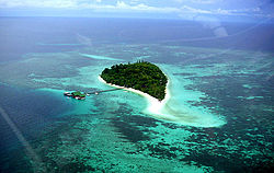 Aerial view of Lankayan Island
