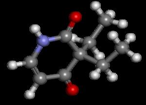 Pyrithyldione - Image: Pyrithyldione ball and stick