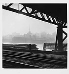 Pyrmont Bridge and the city, Sydney, by David Moore (7511514936).jpg