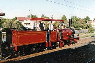 Queensland A10 Neilson class locomotive - N° 6 on its first post-restoration trip, 1991