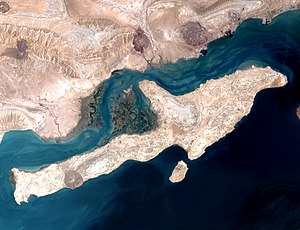 Qeshm - Qeshm from space, August 2000