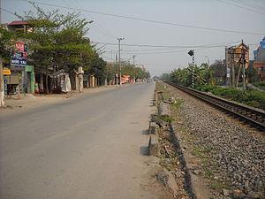 Phủ Lý - Image: Quốc lộ 21B, đoạn Phủ Lý đi Nam Định