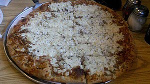 Pizza in the United States - An example of Quad City style pizza
