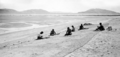 Queensland State Archives 1359 Natives mending fishing nets at Palm Island c 1935.png