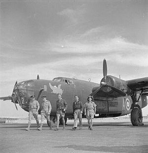 No. 108 Squadron RAF - No. 108 Squadron Liberator crew in Egypt.