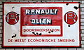 RENAULT OLIEN, Enamel advert sign at the den hartog ford museum pic-045.JPG