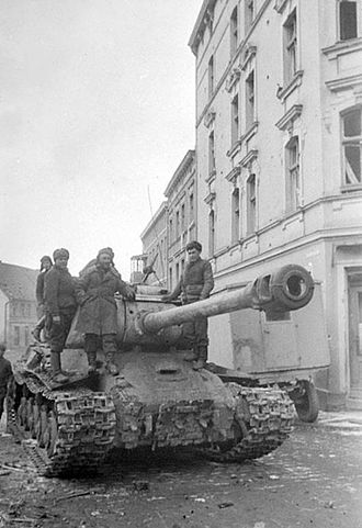 East Pomeranian Offensive - Soviet IS-2 in Stargard, 19 March 1945
