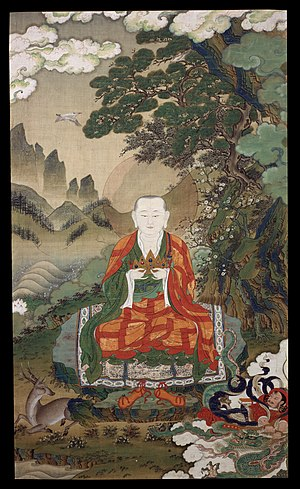 Rāhula, the son of Buddha. Tibetan art, 16th century