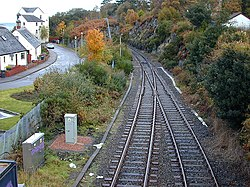 Railway exit from Kyle of Lochalsh - geograph.org.uk - 626730.jpg