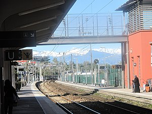 Gare d'Antibes - View of the platforms