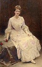 La Marquise d'Hervey Saint-Denys, assise