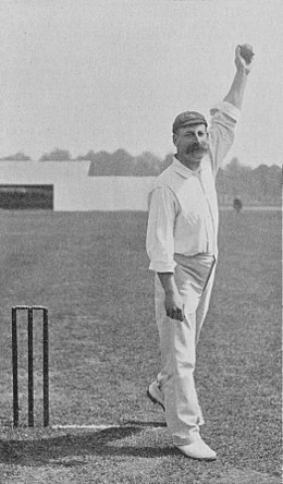 Ranji 1897 page 108 Martin about to deliver the ball.jpg