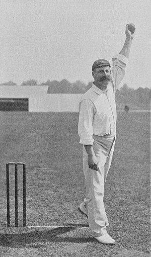 Frederick Martin (cricketer) - Image: Ranji 1897 page 108 Martin about to deliver the ball