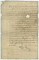 Receipt by Madame Chouteau of $600 from Francisco Piernas, Lt. Gov. of Northern Louisiana, for the death of her slave, Baptiste, May 15, 1787.jpg