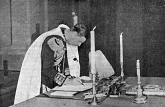 1938 Constitution of Romania - King Carol II signing the Constitution on 27 February 1938