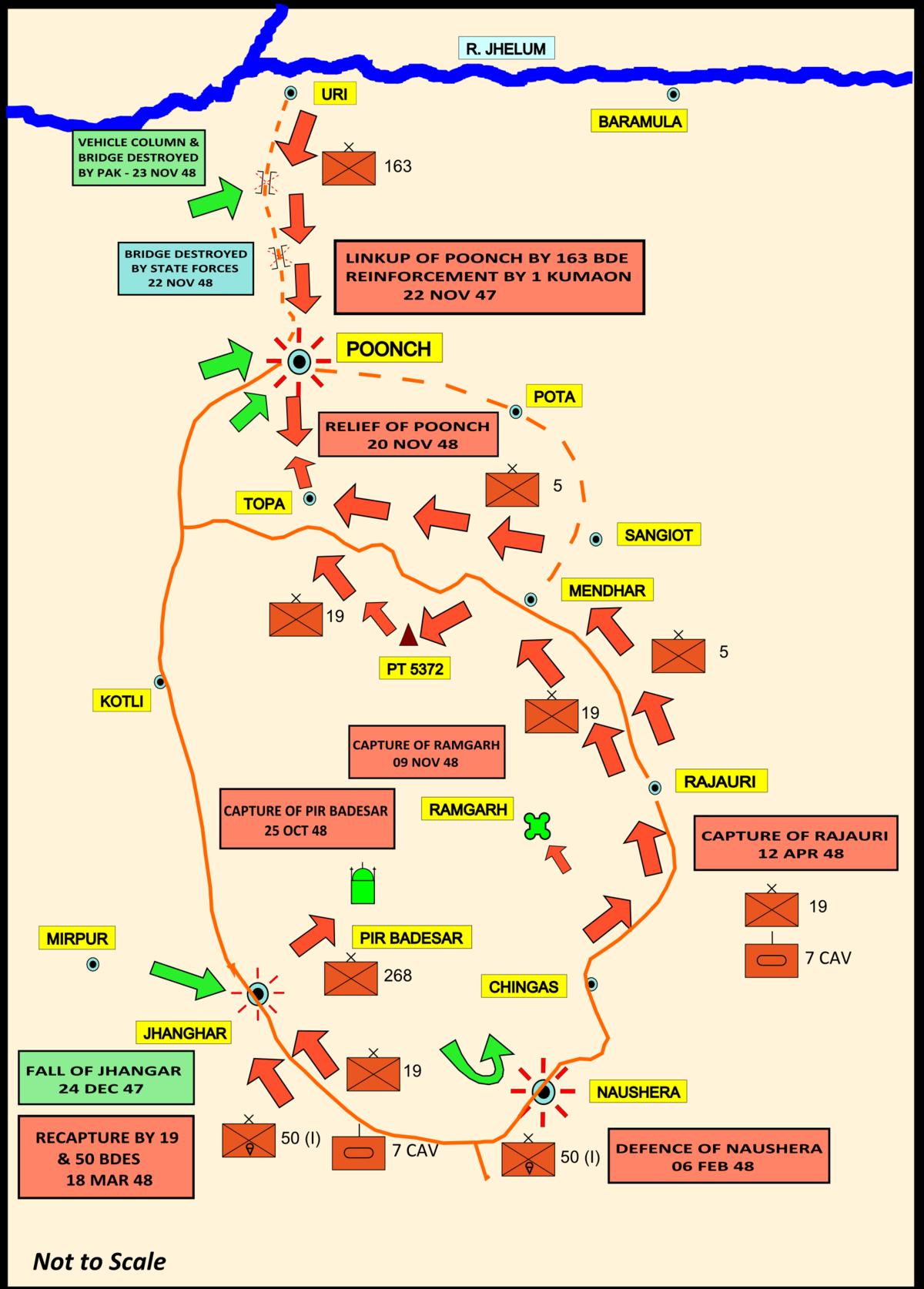 map jammu and kashmir hajipir pass Military Operations In Poonch 1948 Wikipedia map jammu and kashmir hajipir pass