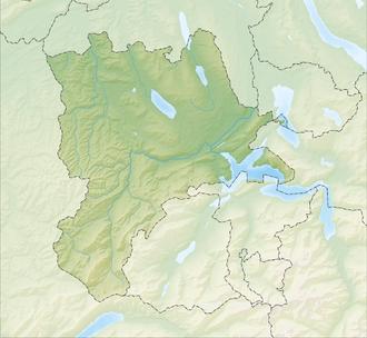 Reliefkarte Luzern blank