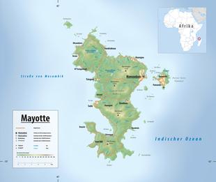 Landkarte von Mayotte