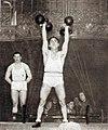 René Duverger, champion olympique poids légers d'haltérophilie aux JO de Los Angeles 1932.jpg