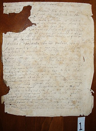 New Latin - Handwriting in Latin from 1595