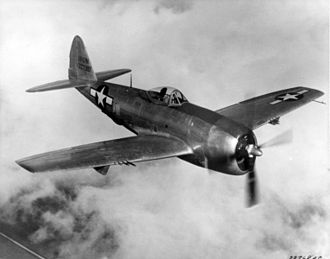 Republic P-47 Thunderbolt - XP-47N flying over the Pacific during World War II