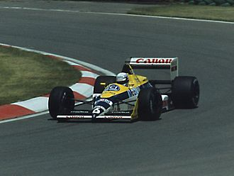 Riccardo Patrese - Patrese driving for Williams at the 1988 Canadian Grand Prix.