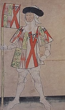 Richard Neville, Earl of Salisbury, depicted on a contemporary manuscript