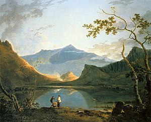 Nantlle Valley - Richard Wilson, View of Snowdon from Llyn Nantlle - WGA25772. The famous painting depicts the area before industrialisation.