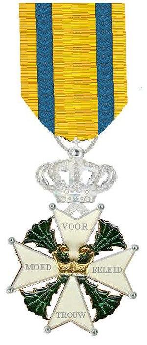 Frits Jan Willem den Ouden - Image: Ridder in de Militaire Willems Orde