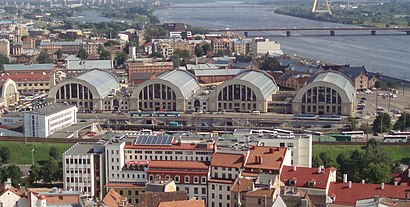 How to get to Riga Central Market with public transit - About the place