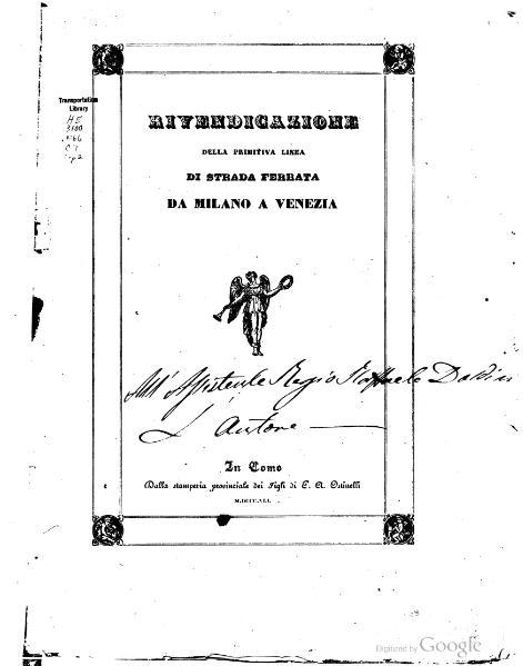 File:Rivendicazione della primitiva linea di Strada Ferrata da Milano a Venezia.djvu