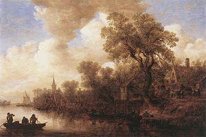 Jan van Goyen - River Scene, 1652
