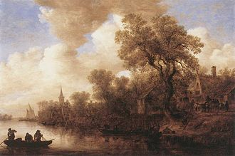 Jan van Goyen - River Scene, 1652