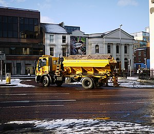 English: Road gritter, Belfast Roads Service N...