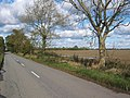 Road heading due north on gridline at Tannington - geograph.org.uk - 586665.jpg