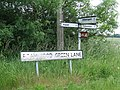 Roamwood Green Lane Sign - geograph.org.uk - 1367592.jpg