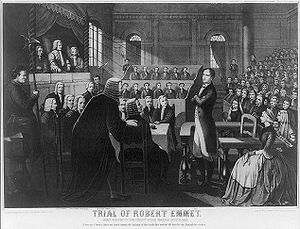 Robert Emmet - Depiction of Robert Emmet's trial