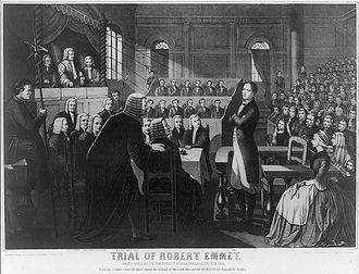 Irish republicanism - Depiction of Robert Emmet's trial