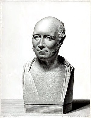Robert Stevenson (civil engineer) - Bust of Robert Stevenson by Samuel Joseph, commissioned 19 July 1824 by the Northern Lighthouse Board.