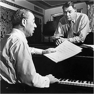 Richard Rodgers - Rodgers (seated) with Hammerstein, 1945