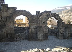 Aosta - Arches of the Roman Theatre.