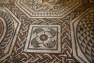 Ratae Corieltauvorum - The Blackfriars Pavement, now installed at the Jewry Wall Museum