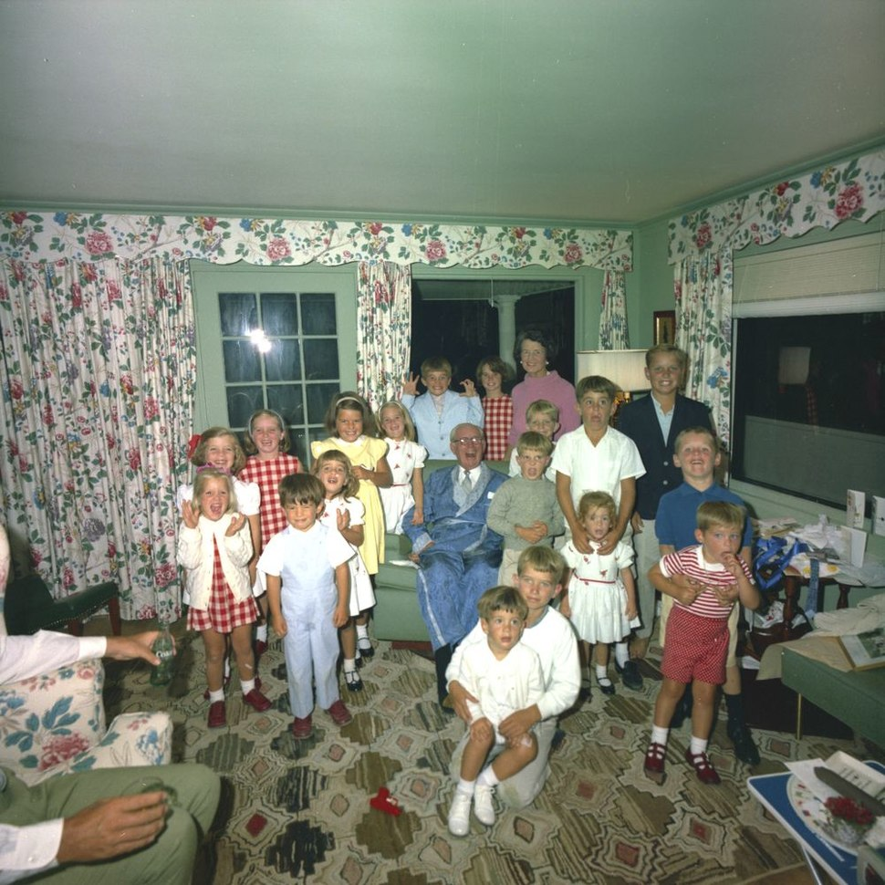 Rose Kennedy with husband Joseph P. Kennedy, Sr. and grandchildren