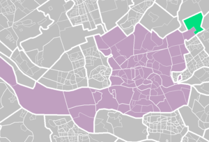 Nesselande - Nesselande (light green) within Rotterdam (purple).