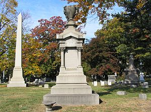 Rowland Hussey Macy - R.H. Macy's monument at Woodlawn Cemetery in the Bronx