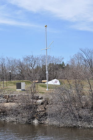Royal Canadian Navy Monument - The mast and theatre entrance